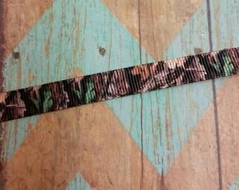 "USD 3/8"" Camoflauge ribbon camo cutie line by the yard"