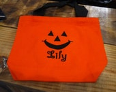 Personalized Halloween treat bag//trick or treat bag