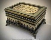 OOAK Ouija Themed Jewelry / Keepsake Box - A Creepy Creations Original