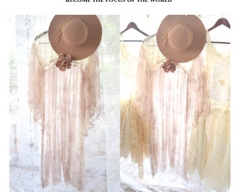 Music Festival Boho top, Magnolia bohemian lace pearl dress, gypsy, Angel wing, Stevie Nicks style glam, true rebel clothing,