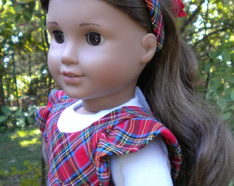 "Plaid Jumper for 18"" dolls like American Girl"