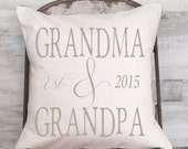 Christmas Gift Pillow Cover Grandparents Gift Personalized Grandma and Grandpa Gift