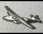 Vitntage Military  WW2 Sterling Silver Sweetheart Four Engine Airplane Pin Aviator