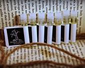 Perfume Oil Sampler, Fragrance, Sample Size, Poison Apple Apothecary, 7 samples