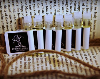 Perfume Oil Sampler, Fragrance, Sample Size, Poison Apple Apothecary, 7 samples