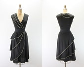 Vintage Dress - 1970s does 1940s Dress