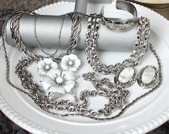 SALE Vintage Jewelry Lot Signed Trifari , Sarah Coventry , Napier , Whiting Davis