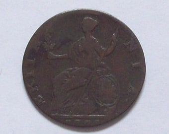 1775 Colonial Halfpenny Coin