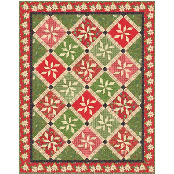 Christmas Quilt Patterns Moda : WINDOW FROST Quilt Kit with Moda Tole Christmas by crazyquiltgirl