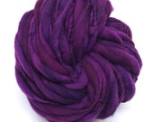 Handspun yarn, 50 yards and 3 ounces, 86 grams, spun super chunky, thick and thin in merino wool