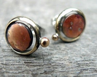 Items Similar To Copper Stud Earrings 20mm Big Round