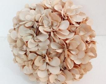 natural biege flower bridal pillow round pouf circular fun fibre pillow decor baby pillow wedding gift decor bridal gift home decor gift