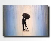Original Large Abstract painting - 24 X 36 FREE US SHIPPINGJMJartstudio- Forgotten-Wall art-wall decor - Oil painting-Black and white