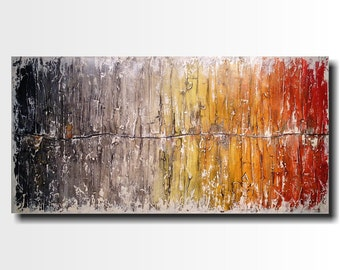 Original Large Abstract painting - 24 X 48 FREE US Shipping JMJartstudio- Beyond Reason-Wall art-wall decor - Gray painting