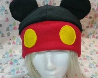 Handmade Mickey Mouse Inspired Fleece Hat