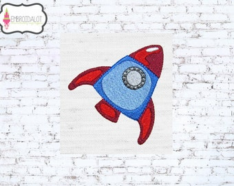 Rocket machine embroidery design. Space embroidery rocket set to BLAST OFFFF....cute rocket embroidery for your little astronaut.