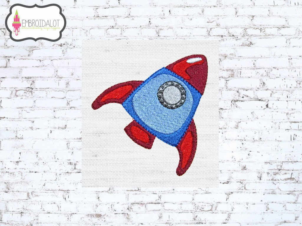 Rocket machine embroidery design space embroidery rocket set for Space embroidery designs