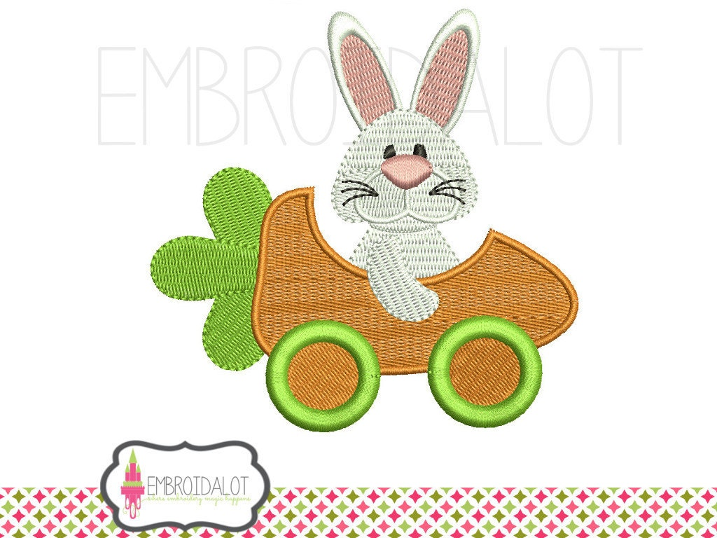 Easter bunny machine embroidery design funny