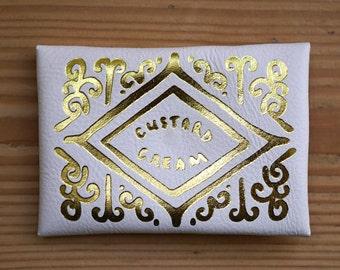 Golden Custard Cream Envelope Purse
