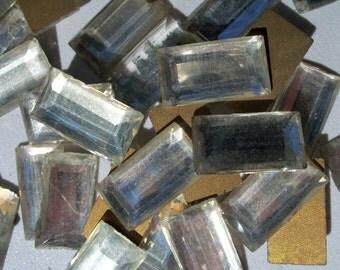 35 Crystal Tiles,  Vintage Tiles, Crown, Jewels, Cabochons, Vintage Cabochons, Glass Tiles
