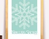 Nollaig Shona Irish Merry Christmas Modern Irish Trad Poster
