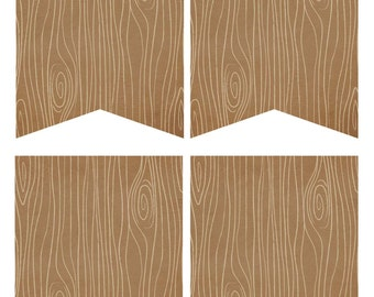 Blank wood grain  DIY Banner Printable  {On Sale From 1.99}