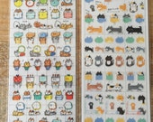 Cute Gorogoro Nyansuke sheet of clear Schedule Stickers at for decorating your planner, schedule, Journal