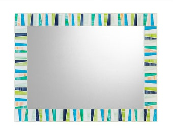 Colorful Stained Glass Mosaic Wall Mirror