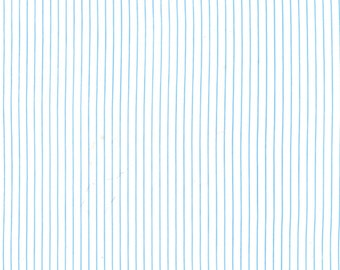 Harper Collection Fine Line Stripe Blue by Michael Miller fabric - low volume background