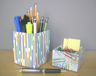 Modern Colorful Square Pencil Cup, Desk Accessories, Dorm Organization, Back To School, Teacher Gifts