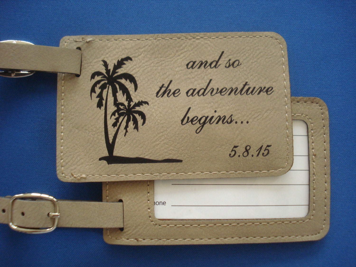 Luggage Tags: 15 Leather Luggage Tags Personalized With Your Design