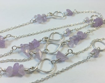 Amethyst and silver