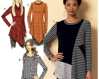 Pullover Tunic Top Pattern, Stretch Knit Tunic Top Pattern, Butterick Sewing Pattern 6377