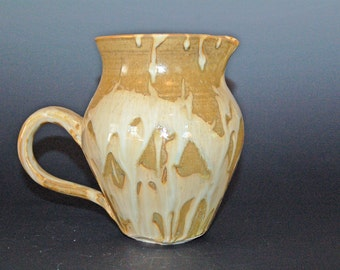 Ceramic Pitcher, Discounted Second, Ceramic and Pottery Pitcher, White and Gold, Water Pitcher, Pottery Handmade