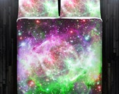 Nebula Planet Outer Space Galaxy Duvet Cover Bedding Queen Size King Twin Blanket Sheet Full Double Comforter Toddler Daybed Kid Teen Dorm