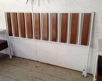 Vista of California Mid Century Modern Headboard / Bed,  Eames Nelson era 1960s Headboard bedroom furniture