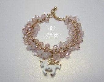 The Rose Quartz Unicorn bracelet