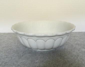 Antique White Ironstone Bowl