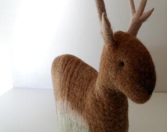 Felted Tea Cosy - Reindeer - Tea Pot Cosy