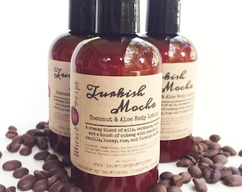 Turkish Mocha Body Lotion - Coconut Milk & Aloe Body Lotion with Cocoa Butter