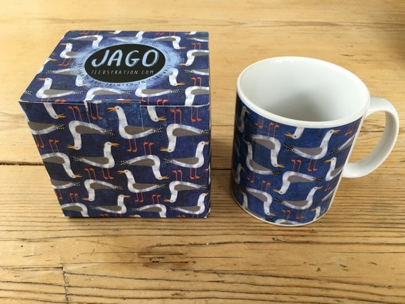 SALE! - Cornish Seagulls - Ceramic Mug & Gift Box