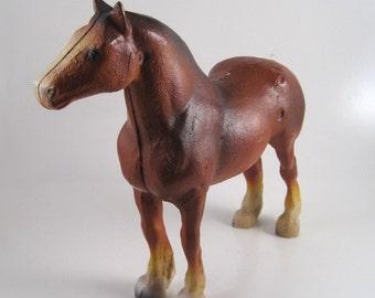 horse door stop - horse bookend - cast iron heavy horse - rustic decor - equestrian decor - farmhouse decor - country decor - clydesdale