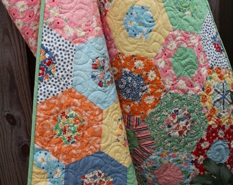 Baby Quilt /  Girl Quilt /   Vintage Style Quilt /  Nursery /   Crib Bedding  / Quilt / Quilts / Custom Quilt, MADE TO ORDER