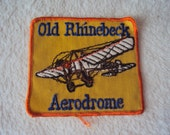 Vintage 1970s Old Rhinebeck Aerdrome Antique Aviation Museum Travel  Patch Patch