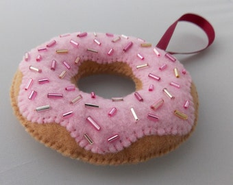 Pink Donut Decor - Yummy Strawberry Donut with Sprinkles
