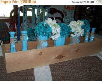 ON SALE 6 SMORES Bar , 36 in Planter Boxes , rustic wedding , reception centerpiece , wood planter , table centerpieces ,wedding decorations
