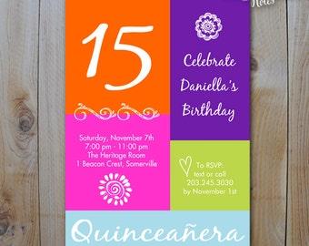 15th birthday | etsy, Birthday invitations