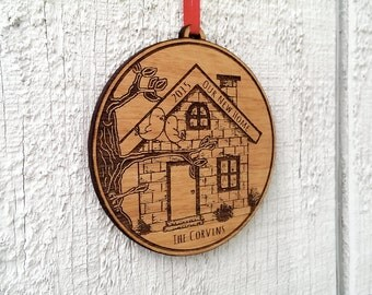 Our NEW Home Ornament New House Ornament Personalized Christmas Ornament Personalized Housewarming Gift Home Sweet Home House Ornament