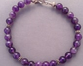 Amethyst with Sterling Si...