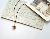 ROSE CITY NECKLACE - solid bronze - cast from hand-formed clay model - pink rose - portland oregon